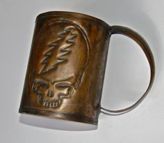 RARE Hand Craft Grateful Dead Copper Mug Inscribed by Steve Morse of Deep Purple