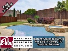 Get an instant list of homes for sale in Parker, TX 75002 with a swimming pool. Fully searchable and no sign up required.