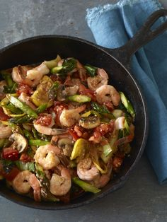 Ginger Shrimp and Veggie Stir Fry