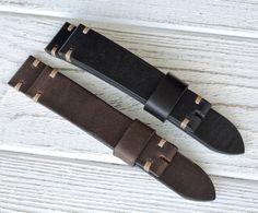 20/18 Black and Brown leather watch straps by VladislavKostetskyi