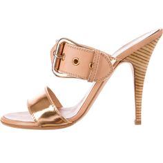 Pre-owned Giuseppe Zanotti Sandals ($175) ❤ liked on Polyvore featuring shoes, sandals, gold, giuseppe zanotti sandals, leather sandals, giuseppe zanotti, tan shoes and real leather shoes