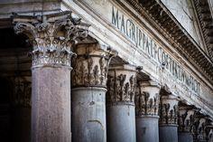 pantheon columns   Rome, Italy.