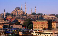 Suleymaniye Camii mosque, Turkey  Suleymaniye Camii mosque on hill above city.