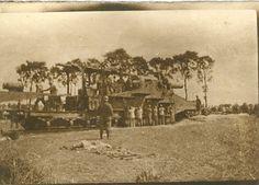 Frans 320mm spoorweggeschut aan het IJzerfront (1917-1918). [fam. Lenaerts/PCCE - HA21.921.094.110]