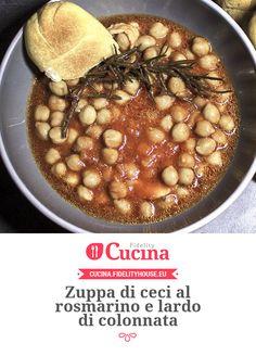 Zuppa di ceci al rosmarino e lardo di colonnata