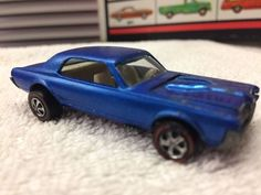 VTG Original 1968 Hot Wheels Redline CUSTOM COUGAR Blue #HotWheels #Mercury