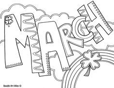 months of the year coloring pages and printables from classroom doodlesa doodle art alley site enjoy