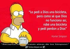 Esta frase es demasiado representativa de como se hacen las cosas Simpsons Frases, Simpsons Art, H Comic, Anti Religion, Funny Memes, Jokes, Gods Not Dead, Homer Simpson, Atheist