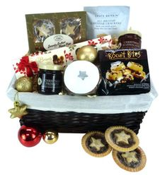 Delight your clients, friends or family with this great tasting collection of festive treats. Food Hampers, Gift Hampers, Gift Baskets, Christmas Hamper, Christmas Gifts, Food Festival, Food Gifts, Gourmet Recipes, Festive