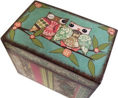 Recipe Box MADE To ORDER Decoupaged 4x6 - This Box Is LARGE and Crafted by Hand