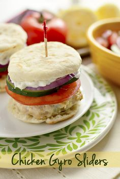 Chicken Gyro Sliders | iowagirleats.com