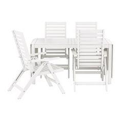 ikea falster tisch 4 armlehnst hle au en grau die streben aus polystyrol sind. Black Bedroom Furniture Sets. Home Design Ideas