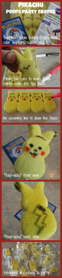 Pokemon Birthday Party Ideas: Pikachu Peeps, Pokeball Cupcakes, and more! - Sisters Shopping on a Shoestring