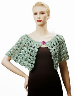 Carolyn Christmas Designs: Serena Crocheted Capelet and Collarlet Patterns