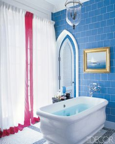 Blue and white bath...ahh.