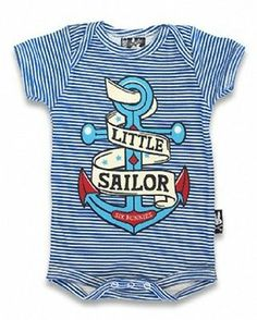 Six Bunnies Little Sailor Romper Onesie Punk Tattoo Nautical Baby Bunny Anchor