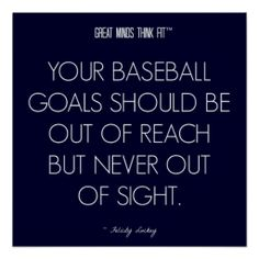 #Baseball #Quote 4: Goals for Success Poster