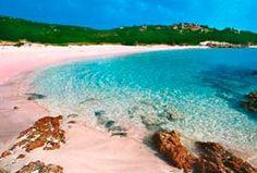 la playa rosa de Cerdeña, budelli