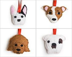 Free Dog Felt Ornament Patterns | ... about **Dog Ornaments** on Pinterest | Ornaments, Figurine and China