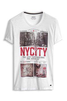 edc - Print-Shirt aus Jersey im Online Shop kaufen