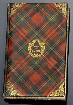 Tartanware and gilt decorated boards on 'The Songs of Burns', published by William and Andrew Smith.  Clan ~ Stewart.