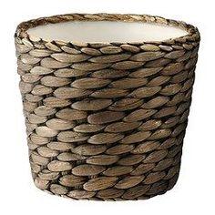 IKEA - DRUVFLÄDER, Plant pot, Handmade by a skilled craftsperson.A plastic inner pot makes the plant pot waterproof.