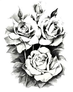 Claire Black Rose Flower Tattoo