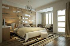 chambre à coucher moderne, déco chambre à coucher beige