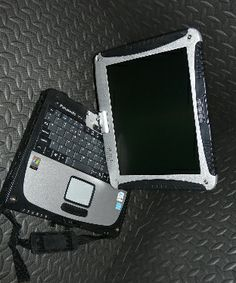 Panasonic Toughbook CF-19 Mk1 with Windows 7, only £400.00 + VAT. With one quick swivel the wireless Panasonic Toughbook CF-19 transforms from a fully-rugged maximum-performance notebook PC to a fully-rugged tablet PC. #Toughbook #Technology Available for purchase from www.pan-toughbooks.com