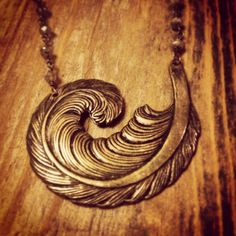 Curled Quill Necklace by sweetBella on Etsy