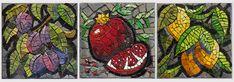 Plum, Pomegranate, Lemon: mosaics by Joanne Daschel