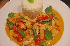 Schnelles Thai - Curry mit Huhn, Paprika und feiner Erdnussnote (Rezept mit Bild)   Chefkoch.de