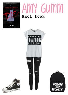 """""""Amy Gumm (Book Look #1)"""" by lunalynch13 ❤ liked on Polyvore featuring Topshop and Converse"""
