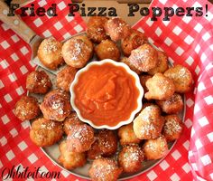 ~Fried Pizza Poppers!