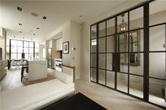 Interior Crittall windows make stunning features 6 Bedroom House, Home Living Room, House Windows, Windows And Doors, Steel Windows, Crittal Doors, Crittall Windows, Glass Pantry Door, Front Door Design