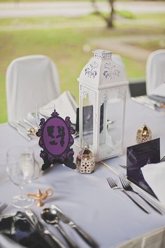 This Disney-Themed Wedding Is Blowing Our Minds #refinery29  http://www.refinery29.com/disney-inspired-wedding#slide-9  Miniature genie lamps and Middle Eastern-style votive holders graced the Aladdin table....