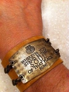 I bought this beautiful bracelet to wear to walk the Camino.