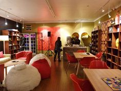 Different look at the lounge area. Jacobs Coffee Board Games Cafe | House and Leisure