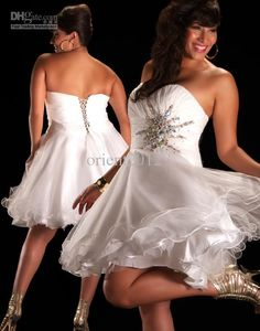 Wholesale Plus Size Simple Prom Dresses Sexy Short Strapless Homecoming dress,Cocktail Dresses,Prom Dresses, Free shipping, $72.8-89.6/Piece | DHgate