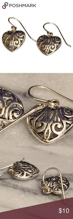 Silver 925 heart hook earrings 925 sterling silver hook earring Jewelry Earrings