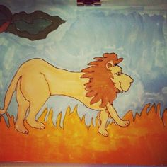 """""""Awesome Lion"""" by Matt, age 5"""