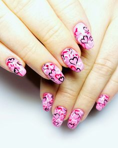 #walentunki #serca #charmgel #rozowe #nails #effectivgirl #effectiveteam #effective