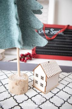 DIY Felt 3D Christmas Tree Decor – Sustain My Craft Habit