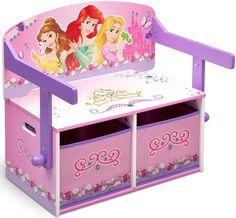 Mobilier pentru Copii DeltaChildren Mobilier 2 in 1 pentru depozitare jucarii Disney Princess