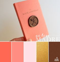 Mother's Day color palette // papaya, pink, gold, and bronze