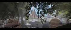 Spring Tree, Fantasy, In The Heart, Pathways, Elves, Mystic, Shades, Lights, Sim