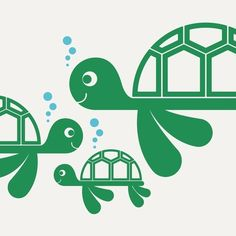 Sea Turtle Vinyl Wall Decals Ocean theme Baby by graphicspaces, $25.00