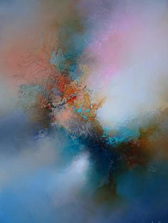 "Large Abstract Painting by Artist Simon Kenny "" If Heaven Allows"""