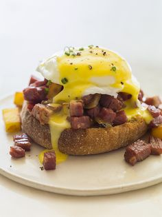 Corned beef hash eggs benedict for St. Paddy's day brunch, anyone?