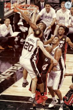 This is the poster of the championship! Manu posterizing Bosh. #GoSpursGo #NBAfinals